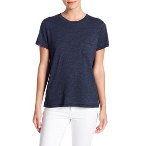Madewell Crew Neck Pocket Tee Navy Blue Large